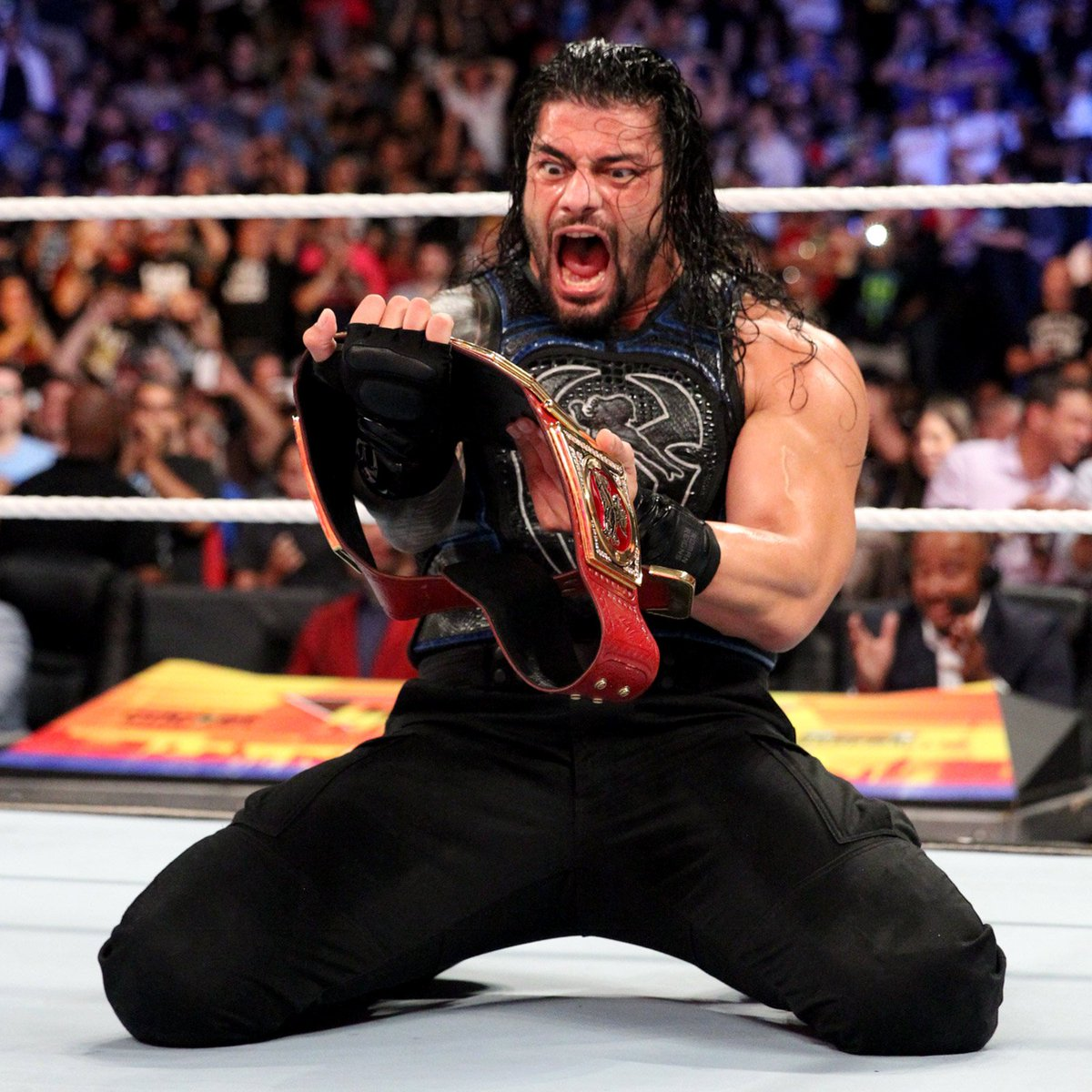 new wwe universal champion roman reigns reacts to his victory at